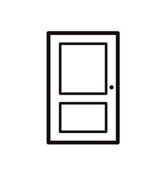 closed door simple black icon on white vector image