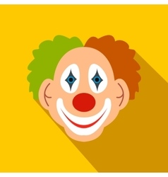 Clown flat icon vector image