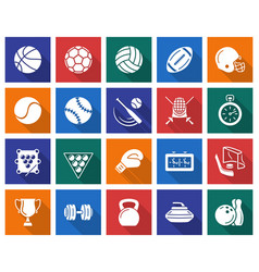 collection of square icons sport vector image