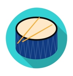 Drum icon in flat style isolated on white vector image