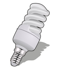energy saving light bulb isolated on white vector image