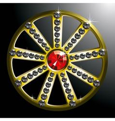 Expensive gold diamond wheel p2 vector