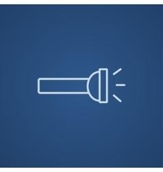 Flashlight line icon vector