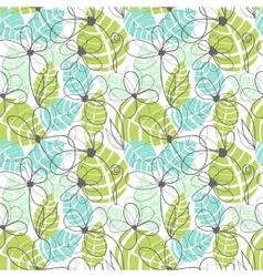 Floral garden pattern summer tropical background vector image