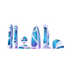 future city futuristic buildings with glass facade vector image
