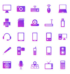 gadget gradient icons on white background vector image