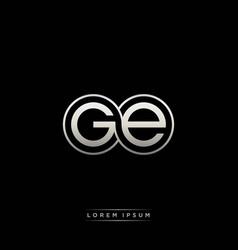 ge initial letter linked circle capital monogram vector image