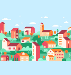 geometric minimalist city vector image