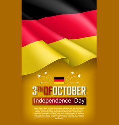 Germany independence day vertical flyer vector