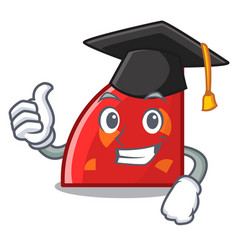 graduation quadrant character cartoon style vector image