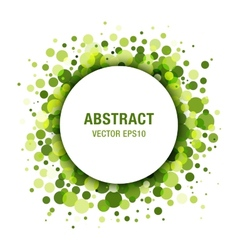 Green Abstract Circle Frame Design Element vector