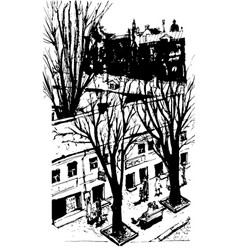 hand drawn city sketch for your design vector image vector image