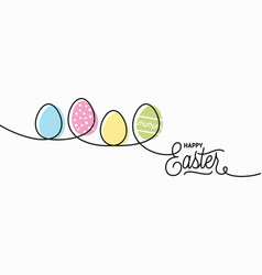 happy easter card easter banner on white vector image