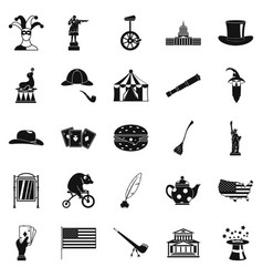 headdress icons set simple style vector image