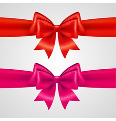 holiday bows vector image