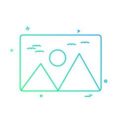 image icon design vector image