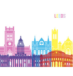 Leeds v2 skyline pop vector
