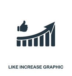 Like increase graphic icon mobile apps printing vector