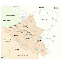 Map indian union territory ladakh vector