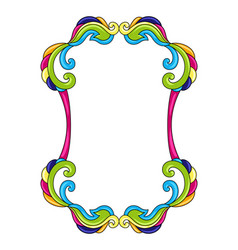 Mexican decorative frame with ornamental swirls vector