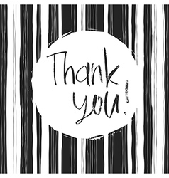 monochrome thank you card vector image