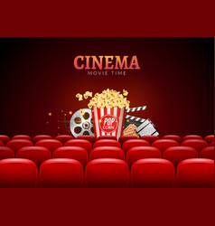 Movie cinema premiere poster design template vector