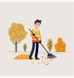 municipal or city council street sweeper taking vector image