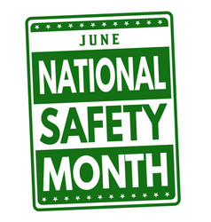 National safety month sign or stamp vector
