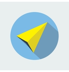 Navigation arrow flat icon navigator direction vector