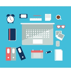 Office flat vector