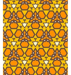 orange brown yellow color abstract geometric vector image