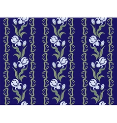 ornaments of blue irises vector image