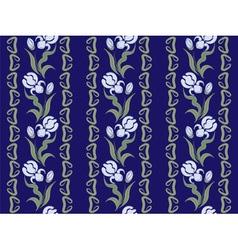 Ornaments of blue irises vector