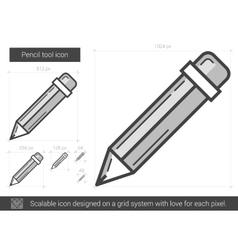 Pencil tool line icon vector