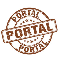 Portal brown grunge stamp vector