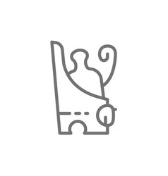 Pschent ancient egyptian double crown egypt vector