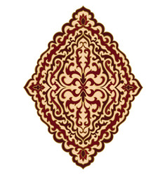 Red and beige medallion for design vector