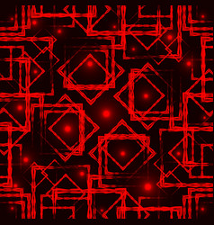 Red diamonds and squares with highlights in the vector