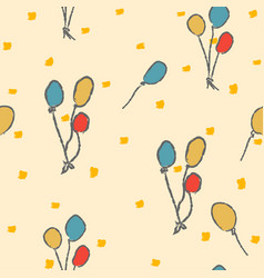 seamless funny pattern with colorful balloons vector image