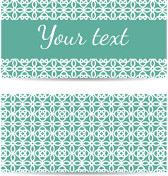 Set of abstract template banners with space for vector