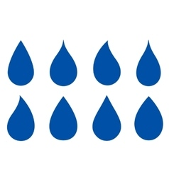 set of drop silhouettes vector image
