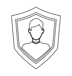 shield with person icon vector image