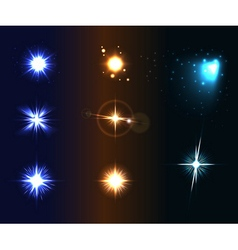 Shine disco color stars 1 vector image