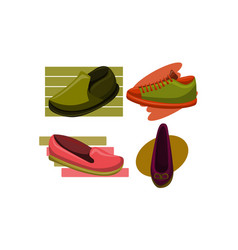shoes back to school template set vector image