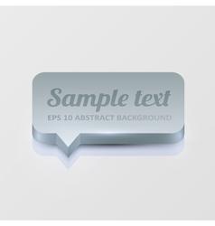 Silver speech bubble vector image