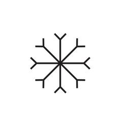 snowflake icon graphic design template vector image