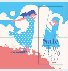 Spring sale banner sale poster sale flyer 75 vector