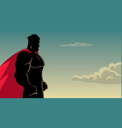 superhero side profile sky silhouette vector image