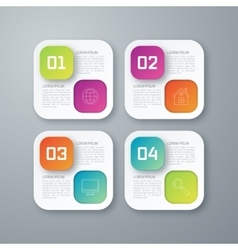 Template rectangles design on the grey background vector image