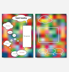 Templates links and comments on a bright backgrou vector